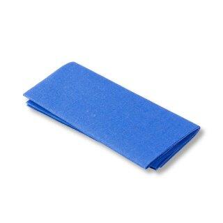Flickstoff Baumwolle/ mittelblau/ 45 x 12 cm