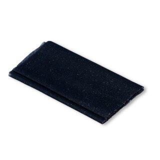 Flickstoff Polyester/ marine/ 45 x 12 cm