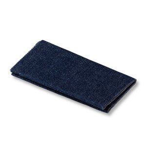 Flickstoff Jeans/ dunkelblau/ 12 x 45 cm