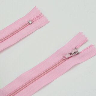 Reißverschluss rosa  ab 20 cm